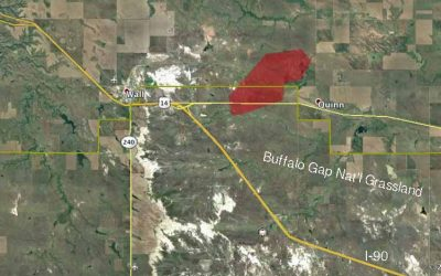 Wildfire Near Wall Mostly Contained