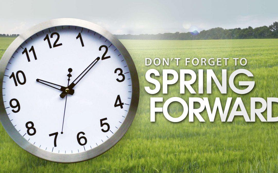 Spring Forward This Sunday!