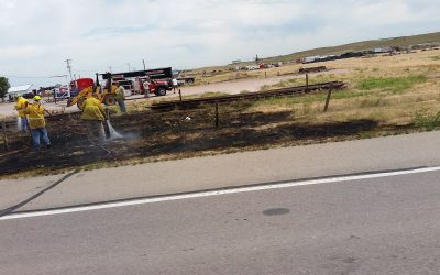 Grass Fire Quickly Contained