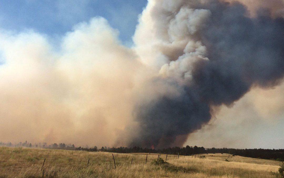 Crews Battling Grass Fire Near Wanblee