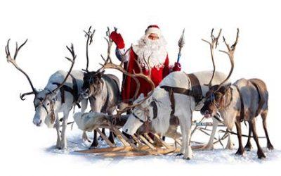 Santa, Reindeer and Wagon Rides on Saturday