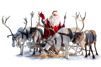 Santa, Reindeer and Wagon Rides on Saturday
