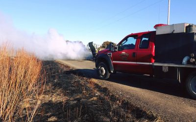 Tractor Fire Quickly Extinguished