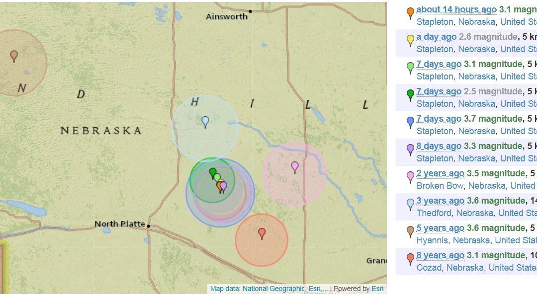 Earthquakes Reported Near Stapleton