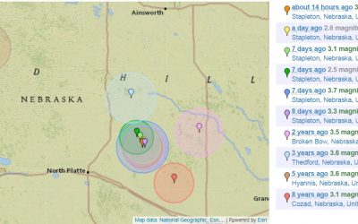 Earthquakes Reported Near Stapleton