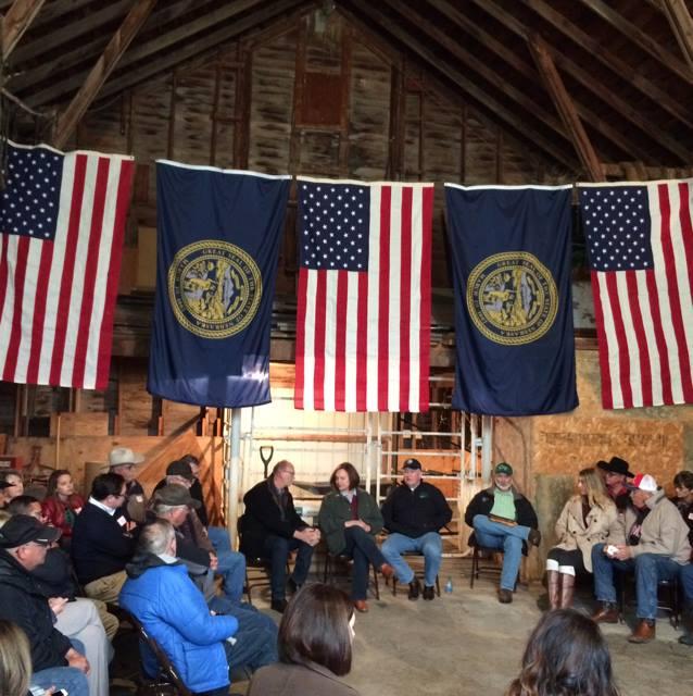 Roundtable Held At Sen. Fischer's Ranch