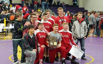 Valentine Defends District Wrestling Title, Qualify 8 for State