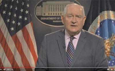 U.S. Secretary of Agriculture Sonny Perdue USDA Announcement