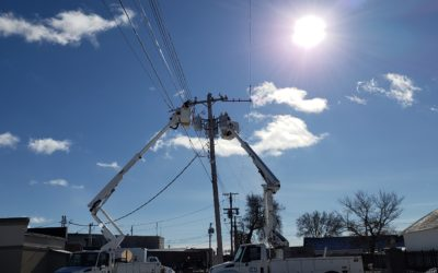 Power Line Work Continues