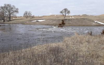 Minnechaduza Creek west of Valentine.