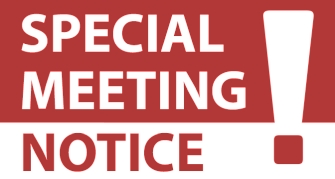Public Hearing & Special Meeting Notices