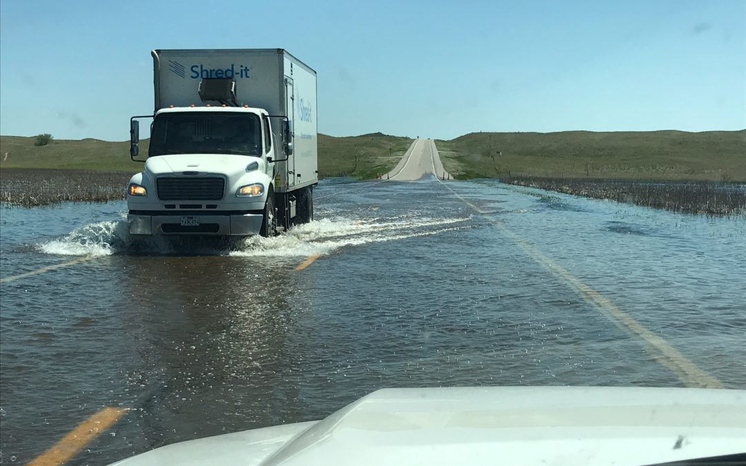 Water Over Road on Hwy 83