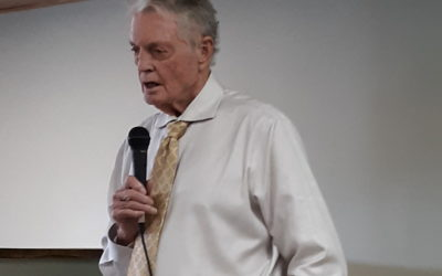 Dr. Tom Osborne talks about mentoring program with local residents in Valentine