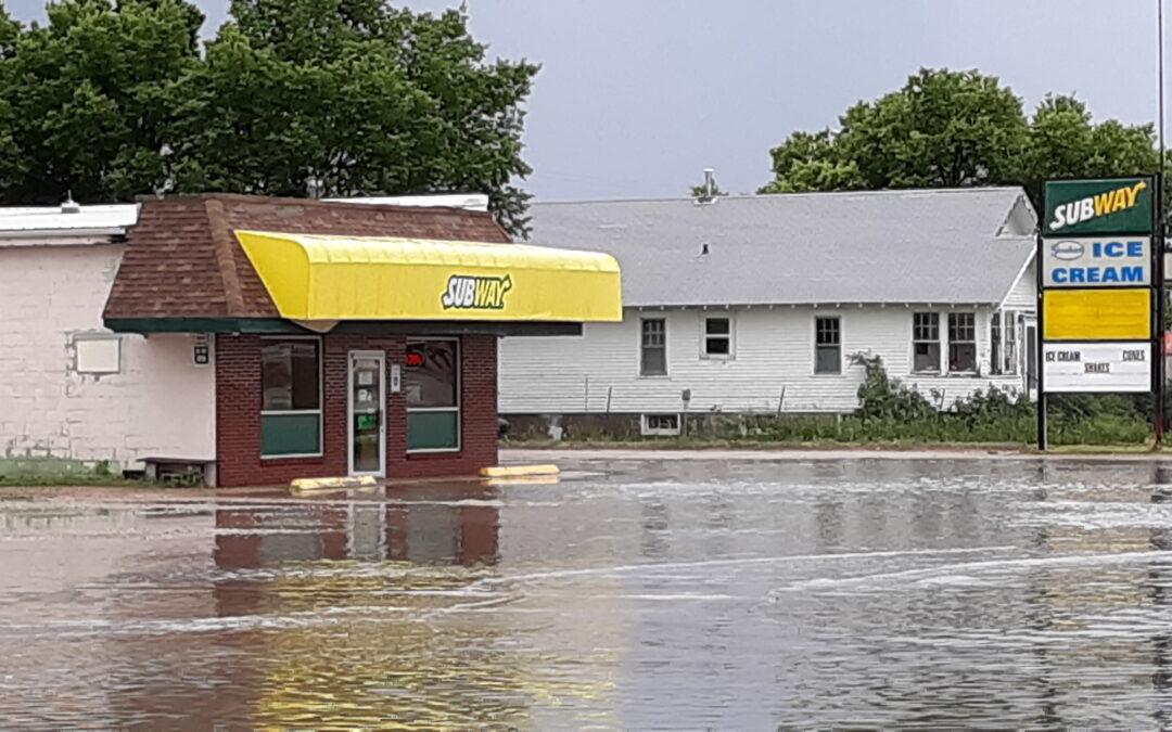 Nearly One Inch of Rain Floods Valentine Streets