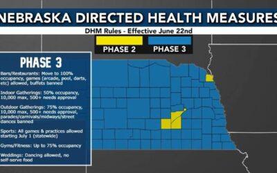 Nebraska Easing Restrictions June 22