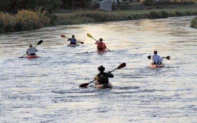 Locals Compete in Middle Loup Kayak Race