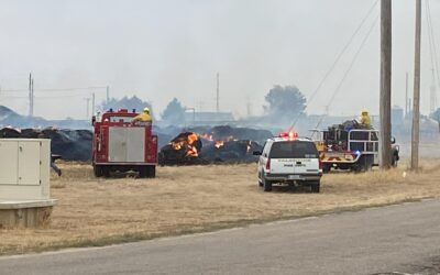 Large Bale Fire at Valentine Livestock