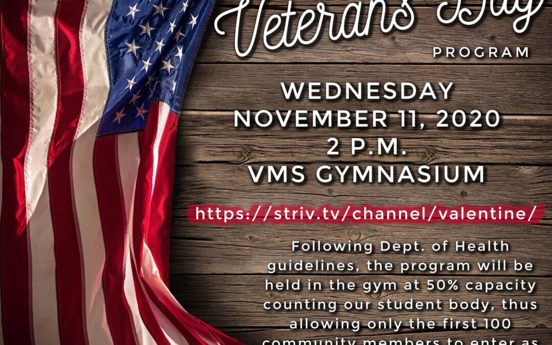 VMS Veterans Day Program