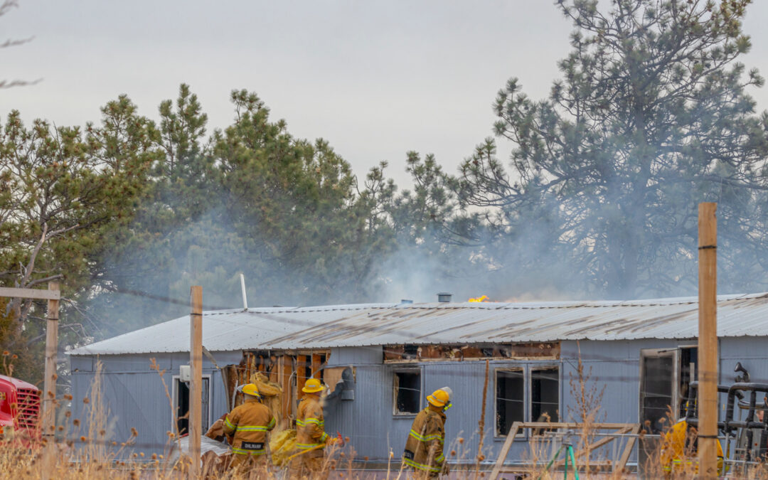 Fire Engulfs Trailer Home