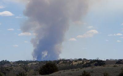 Prescribed Fire At Fort Niobrara Produces Enormous Cloud Of Smoke