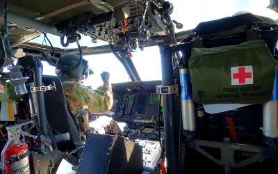 Blackhawk Helicopter Picks up KVSH Radio