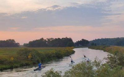 Three Locals Compete in Kayak Race